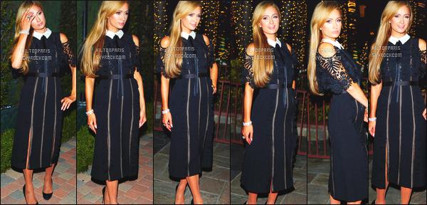 ------- 24/10/17:  Notre princesse Paris Hilton photographiée au grand événement « Make A Wish » -  dans Los Angeles. J'adore beaucoup la robe, cela lui va bien le noire à mlle Paris, j'aime aussi la coiffure qui fait vraiment classe, top pour ses cheveux lisse.   -------