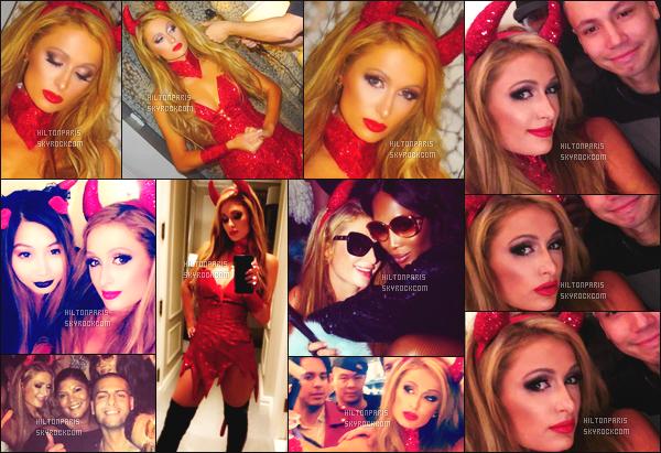 """--------------------------------------  """"""""RESEAUX SOCIAUX"""""""" Découvrez les dernières photos de mlle Paris toujours  actif sur Instagram ou Snapchat.  Octobre 2017 -     Photos de notre princesse Paris lors d'une soirée pour Halloween. J'adore beaucoup cette tenue de diablesse. Au top. --------------------------------------"""