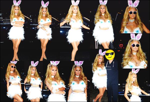 ------- 31/10/17:     Paris Hilton  photographiée  se rendant à une soirée pour la grande fête de Halloween -  à Beverly Hills.  Elle est trop belle et tellement adorable dans cette petite tenue de lapine, j'adore beaucoup la jupette. Gros top pour elle. J'adore.  -------