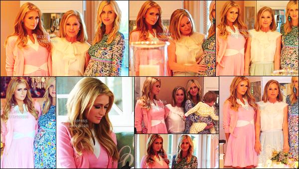 ------- 22/11/17:   Notre princesse Paris Hilton photographiée assistant à la Baby Shower de sa soeur Nicky -   New York. Elle est mignonne Paris dans cette petite tenue simple, la robe rose lui va à merveille, je suis fan  de ses longs cheveux blond lisse/boucle.        -------