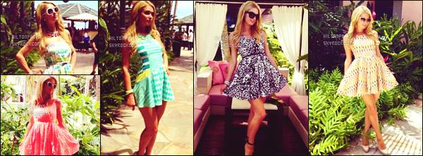 """--------------------------------------  """"""""RESEAUX SOCIAUX"""""""" Découvrez les dernières photos de mlle Paris toujours  actif sur Instagram ou Snapchat.  Juillet 2013 -    Quelques photos de la miss Paris Hilton avec pleins de tenues différentes lors de son sejour à Hawaii. J'adore  ses cheveux. --------------------------------------"""