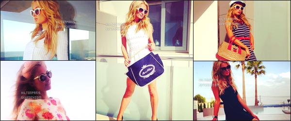 """--------------------------------------  """"""""RESEAUX SOCIAUX"""""""" Découvrez les dernières photos de mlle Paris toujours  actif sur Instagram ou Snapchat.  Juillet 2013 -   Photos de   Paris Hilton   pour un petit cours séjour à Ibiza au soleil. Elle nous montre ses sacs à mains de sa collection. --------------------------------------"""