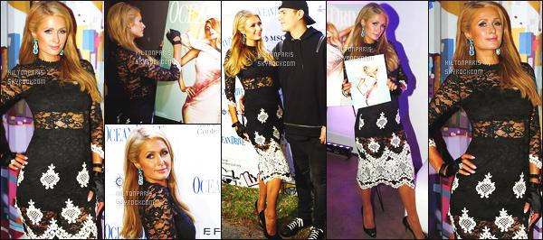 ------- 05/12/17:  Belle  Paris Hilton  photographiée    à la soirée de  « Ocean Drive Mag  » pour sa couverture de magazine.   J'accorde un bon top pour Paris Hilton, j'adore beaucoup la robe. Je la trouve magnifique. Cette robe est toute mignonne. Gros top.     -------