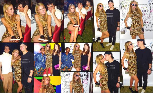 ------- 06/12/17:  Merveilleuse  Paris Hilton  photographiée      assistant  à l'évenement de Daily Basel dans la soirée à Miami.    Elle est accompagnée de son fidele amoureux Chris. Je ne suis pas trop fan de cette tenue, ca fait un peu cagole ce motif léopard.  Au top.    -------