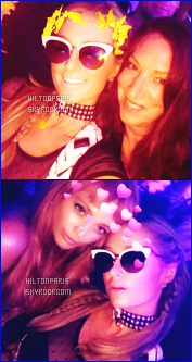 ------- 07/12/17: La merveilleuse  Paris Hilton   photographiée assistant à la grande soirée de « Art Basel »  dans Miami.  J'aime cette tenue courte,  cela c'est tout à fait son style et cela lui va  bien.  Gros top pour ses chaussures bottines noires. J'aime assez.   -------