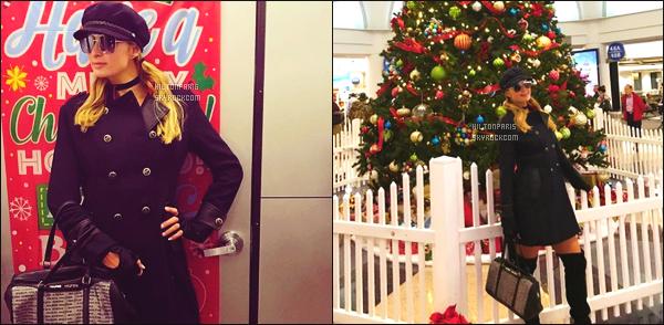 ------- 14/12/17:  Sublime Paris Hilton photographiée avec son amoureux arrivant à l'aéroport de Heathrow à Londres.  J'adore trop la petite robe rouge cela lui va trop bien avec ses cuissarde. J'aime bien  son manteau tout noire même si il est simple au top. -------
