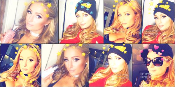 """--------------------------------------  """"""""RESEAUX SOCIAUX"""""""" Découvrez les dernières photos de mlle Paris toujours  actif sur Instagram ou Snapchat. Décembre 2017 -  Quelques photos de  belle  Paris Hilton qui s'amuse avec les effets de la grande application Snapchat. J'adore trop. --------------------------------------"""