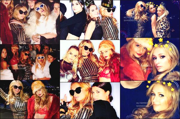 """--------------------------------------  """"""""RESEAUX SOCIAUX"""""""" Découvrez les dernières photos de mlle Paris toujours  actif sur Instagram ou Snapchat. Janvier 2017 -  Quelques photos de notre princesse Paris Hilton. Elle est accompagnée de plein de stars. Gros top pour cette robe dorée. --------------------------------------"""