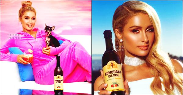 --------        •  Découvrez  la jolie Paris Hilton  qui fait la campagne de   «  Kombucha    » - Février 2017.     J'adore  beaucoup les photos même si il y a peu de photos et c'est dommage je trouve. J'adore tellement la photo toute rose. Au top.   --------