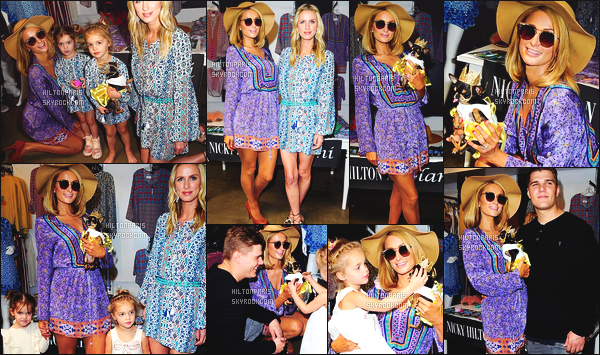 ------- 17/03/18:  Jolie Paris Hilton photographiée assitant au lancement de la ligne de vêtement de Nicky-    Beverly Hills.    J'aime beaucoup la tenue. Ca lui va tres bien les couleurs et cette tunique ample. Petit flop pour ses lunettes de soleil que j'aime pas trop.  -------