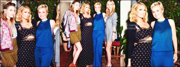 ------- 22/03/18: Notre princesse Paris Hilton photographiée assistant à un grand dîner dans la soirée  - à Los Angeles. Gros top pour cette tenue, j'aime beaucoup cette couleur claire va tellement bien à Paris comme la longue robe, j'aime trop. Top/Flop?  -------
