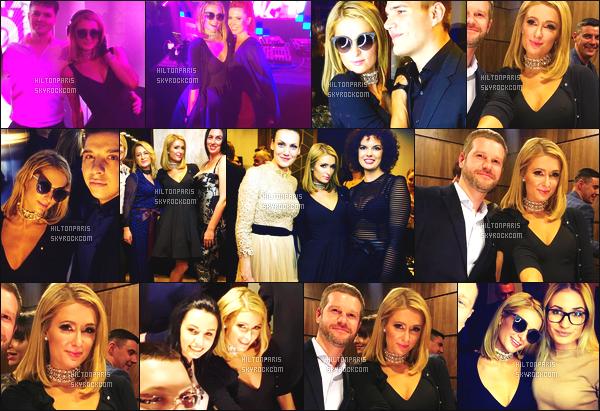 ------- 31/03/18: Sublime  Paris Hilton   photographiée  lors d'un événement  au Grand Hotel Lviv dans la soirée -   Ukraine.  Je lui accorde un  enorme top pour cette sublime robe. Cela fait princesse. J'adore beaucoup. Je suis toujours fan de ses cheveux carré. -------