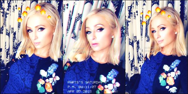 """--------------------------------------  """"""""RESEAUX SOCIAUX"""""""" Découvrez les dernières photos de mlle Paris toujours  actif sur Instagram ou Snapchat. Avril 2018 -  Quelques photos de  sublime  Paris Hilton qui s'amuse avec les effets de la grande application Snapchat. J'adore beaucoup. --------------------------------------"""