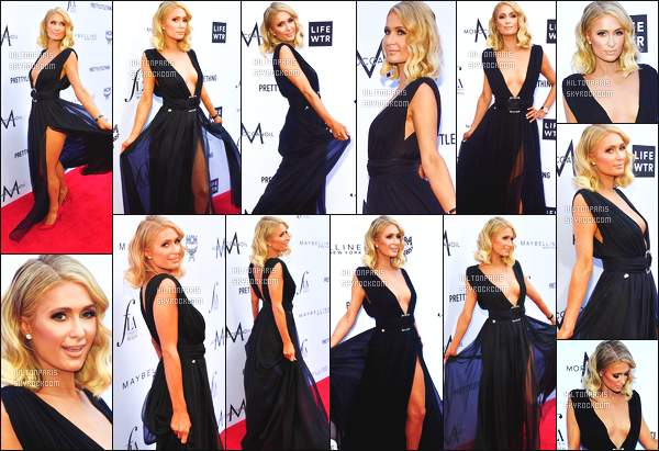------- 08/04/18: La merveilleuse Paris Hilton   photographiée assistant à la soirée de Daily Front Fashion  -    Los Angeles.   Je lui met vraiment un gros top pour la tenue. La robe est tres belle,   attention defois on peut voir sa culotte à Paris. J'adore   ses cheveux.  -------