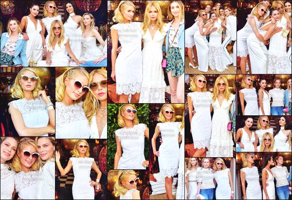 ------- 13/04/18:  Mlle Paris    Hilton   dans la journée lors du lancement de ligne de vêtement d'une amie -  à Beverly Hills. Paris esttres  belle dans la tenue toute blanche, elle semble s'amusé comme une petite folle. J'adore trop ses cheveux court. Au top Paris.  -------
