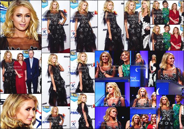------- 18/04/18:   Notre princesse Paris Hilton    photographiée assistant au Gala de « To Foster Dreams »  -  Los Angeles.  Je lui accorde un gros top pour cette tenue. Elle es si merveilleuse. J'adore les photos, elle est si souriante. Top pour ses cheveux court.  -------