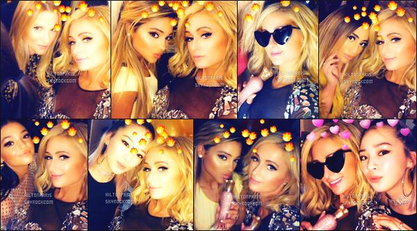 ------- 20/04/18:   Notre princesse Paris Hilton    photographiée durant la soirée « Beautycon » fait chez elle  -  à  New York.  J'adore beaucoup cette tenue, elle est trop canon. Notre  sublime  Paris est  tellement joyeuse de faire la fête. Top pour ses cheveux court.  -------