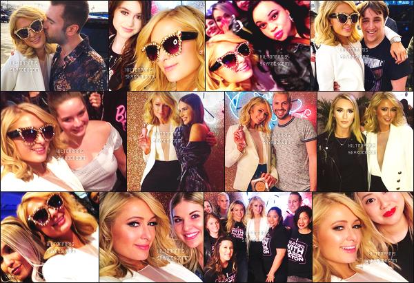 ------- 21/04/18:   La jolie Paris Hilton    photographiée durant l'événement de  « Beautycon » dans la journée  -      New York.  (+) Des photos avec des fans durant ce moment. Gros top pour la tenue. Je suis   fan de son blazer blanc. Top pour ses cheveux court.  -------