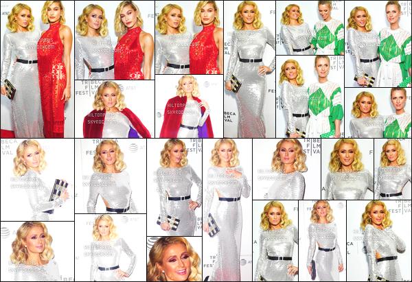 ------- 27/04/18: Sublime Paris Hilton  photographiée assistant à la grande soirée de The American Meme  - à  New York. Gros top pour cette tenue, j'aime beaucoup cette couleur claire va tellement bien à Paris comme la longue robe, j'aime trop. Top/Flop?  -------