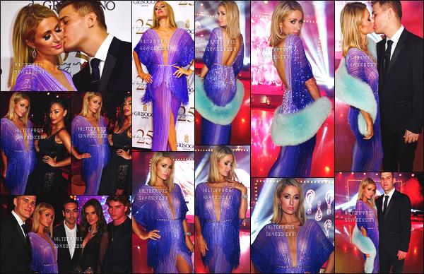 ------- 16/05/18: Notre princesse Paris  Hilton photographiée assistant à la  soirée de Grisogono avec Chris - à Cannes.  Je lui accorde un gros top cette robe qui est assez original en plume. J'adore ses cheveux court. Elle est vraiment ravissante et si glamour. -------