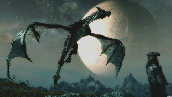 Un dragon qui vole dans le ciel