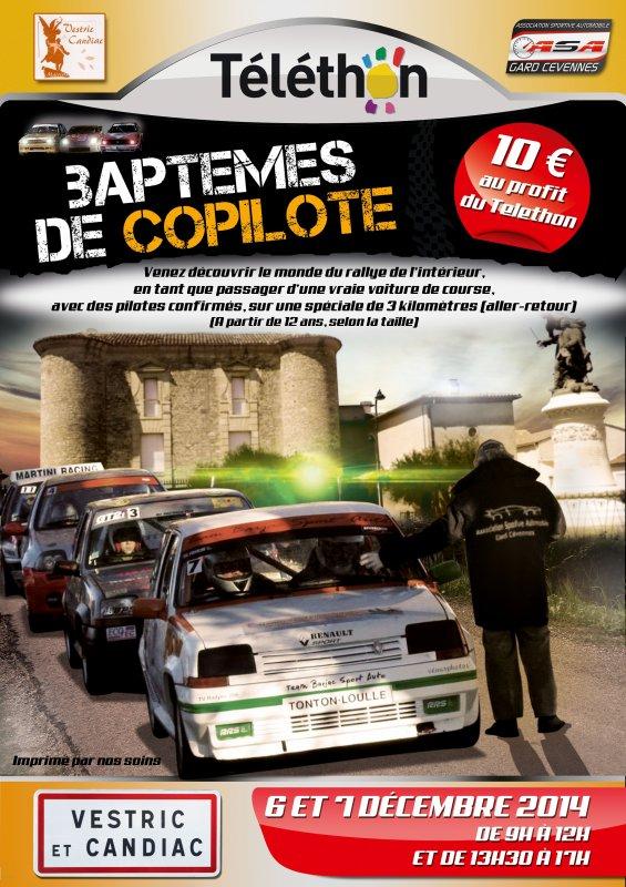Affiches Téléthon Vestric-et-Candiac (Gard)