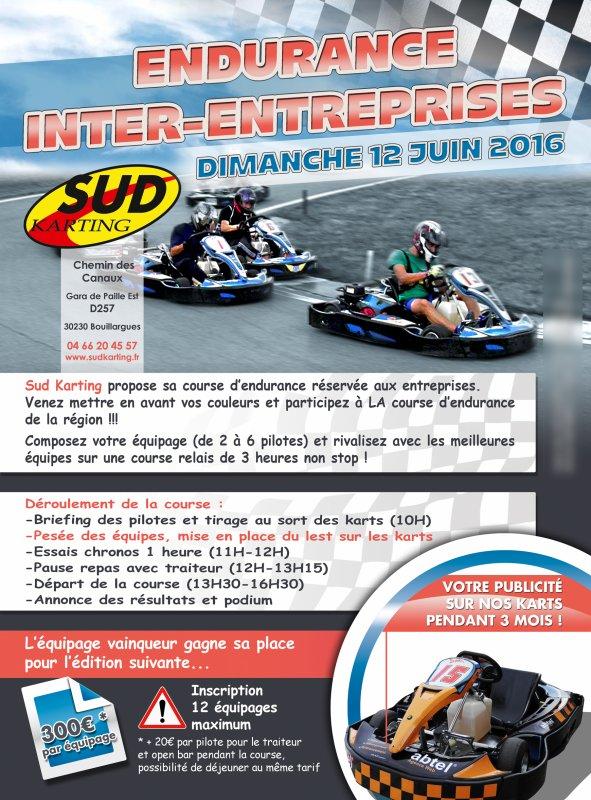 Sud Karting affiches endurance inter-entreprises