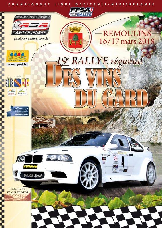 Affiches Rallye régional des vins du Gard