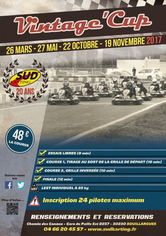 """Affiches Sud Karting """"Vintage Cup"""""""