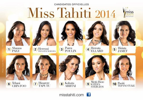 Miss Tahiti 2014 - Les candidates
