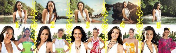 Miss TAHITI 2014 - Portraits des candidates (partie 1)
