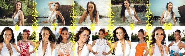 Miss TAHITI 2014 - Portraits des candidates (partie 2)