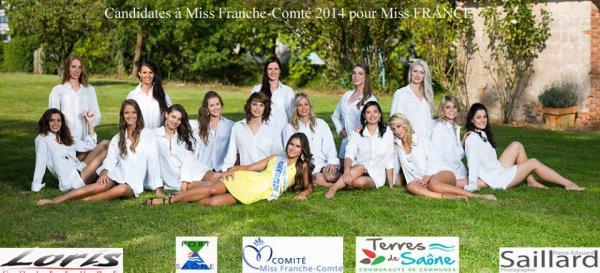 Miss Franche-Comté 2014 :: Photo de groupe des candidates