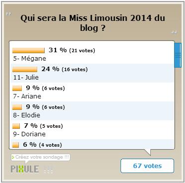 ÉLECTION RÉGIONALE - Miss Limousin 2014, Léa Froidefond