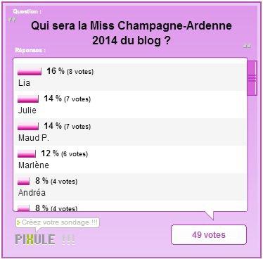 ÉLECTION RÉGIONALE - Miss Champagne-Ardenne 2014, Julie Campolo