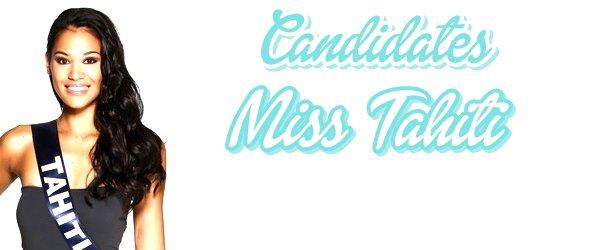 MISS TAHITI 2015 :: Les candidates