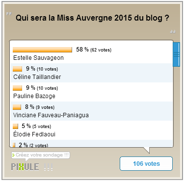 Miss Auvergne 2015 - Les résultats de l'élection du blog