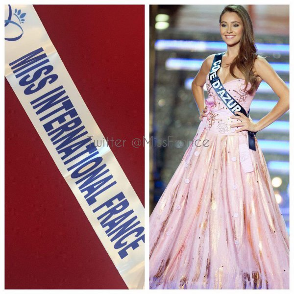 Miss International France 2015 est Charlotte Pirroni