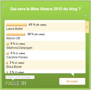 Miss Lorraine 2015 / Miss Alsace 2015 / Miss Corse 2015 - Les résultats des élections du blog