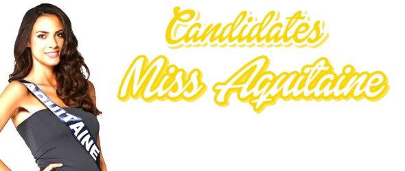 MISS AQUITAINE 2015 :: Les candidates