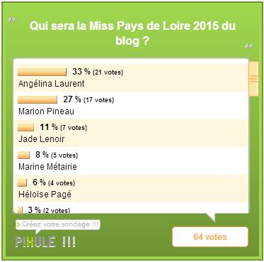 Miss Pays de Loire 2015 / Miss Bretagne 2015 - Les résultats des élections des blogs
