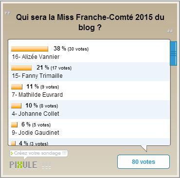 Miss Franche-Comté 2015 / Miss Rhône-Alpes 2015 - Les résultats des élections du blog