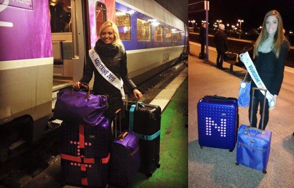 MISS FRANCE 2016 :: Départs et arrivées à Paris
