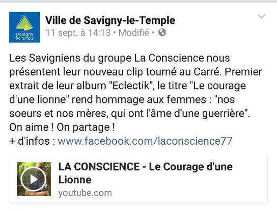 On parle de LA CONSCIENCE (Savigny Le Temple)