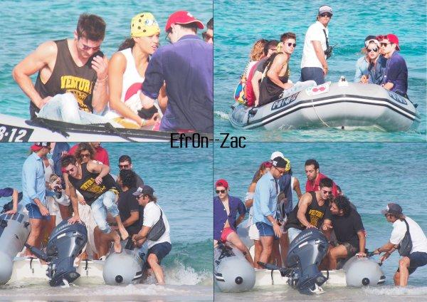 ➽ EFR0N--ZACToday : 10/08/14 - Zac à Ibiza avec Michelle Rodriguez !    Zac Efron CANDIDS