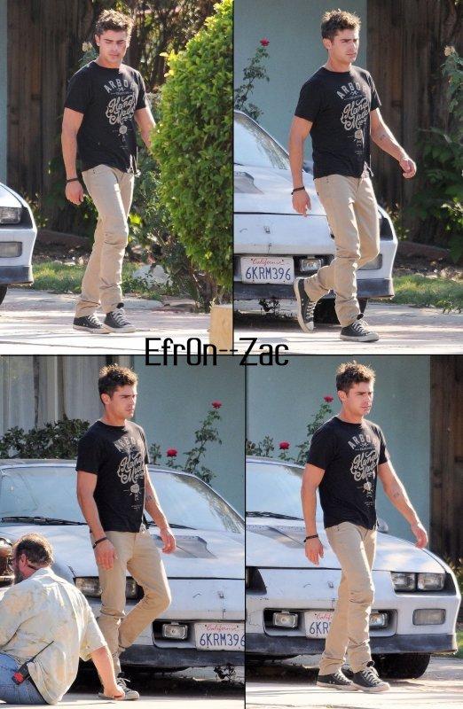 ➽ EFR0N--ZACToday : 28/08/14 - Zac en plein tournage !    Zac Efron CANDIDS