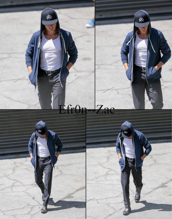 ➽ EFR0N--ZACToday : 23/09/14 - Zac en tournage !    Zac Efron CANDIDS