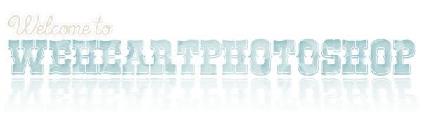 Bienvenue sur weheartphotoshop ! ♥