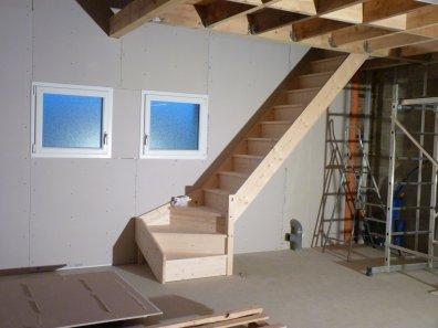 escalier droit pour garage