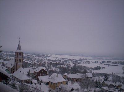 petite tof du village sous la neige